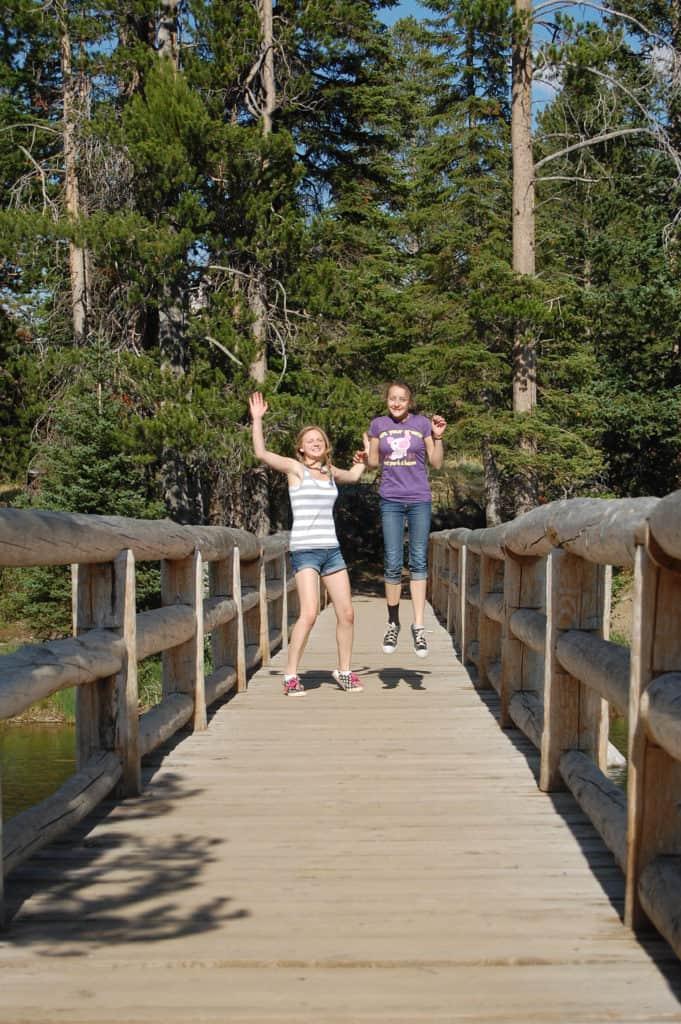 Jumping for joy in Teton National Park