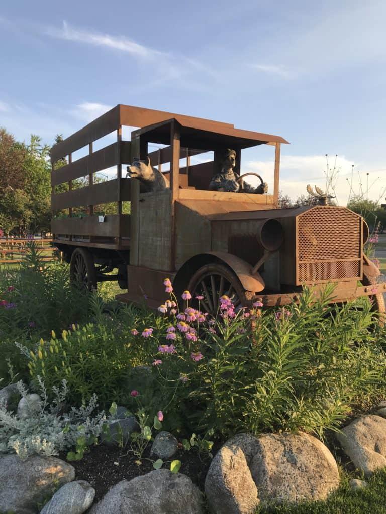 Rusty farm truck.