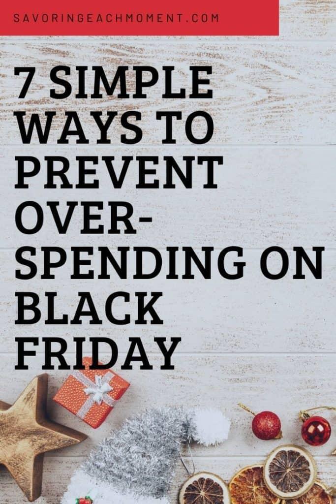 Prevent Overspending on Black Friday