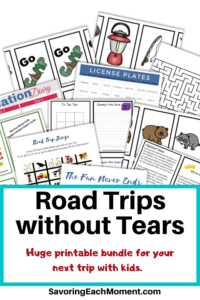 Road Trips Without Tears Activity Bundle