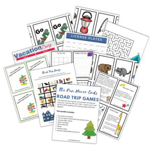 Road Trip Games and Activites for Kids
